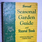 SALE Sunset Garden Record Guide 1955 1st Edition