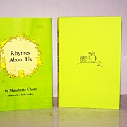 SALE Signed 1st Edition Rhymes About Us Autographed