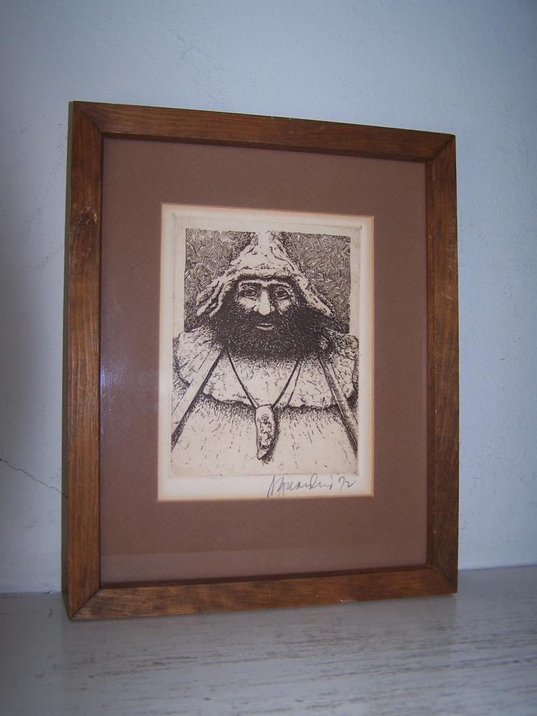 Original Signed & Framed Etching Friar Tuck