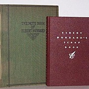 SALE Two Elbert Hubbard Roycrofter books 1st editions Hand Crafted