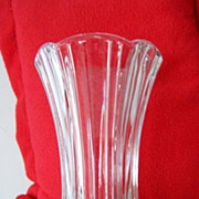 "SALE Anchor Hocking 9"" Crystal Vase~Mint!"