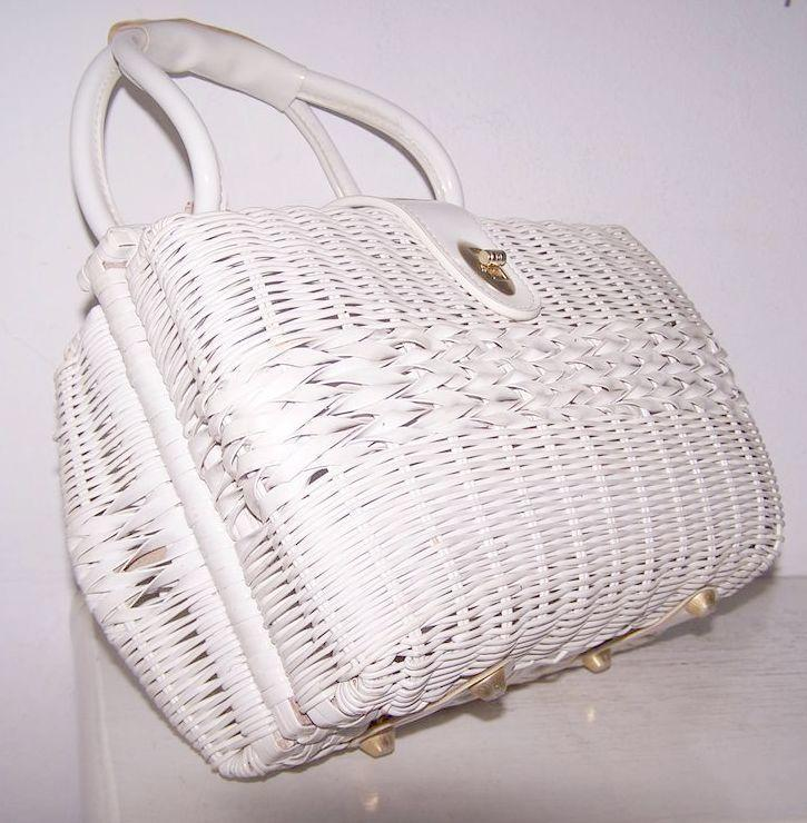 Double sided Rattan Leather Satchel handbag British Hong Kong