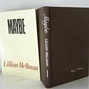 SALE FREE Ship USA! Maybe Lillian Hellman 1st Edition 1980