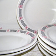 25 Pcs Platter Dinner Plates Rice Bowls Bouillon Cups Chinese Restaurant Ware China