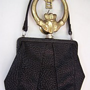 SALE Town and Country Black Leather Handbag