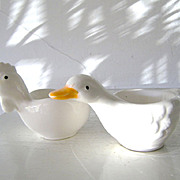 SALE Chicken & Duck Pottery Egg Cups (2)