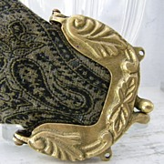 SALE Art Noveau Brass Purse Frame