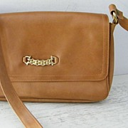 SALE Italian Cordovan Leather Shoulder Bag