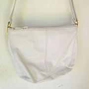 SALE Ganson White leather Hobo multiple compartments Shoulder Bag mint
