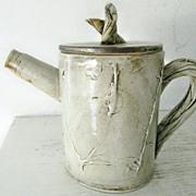 SOLD Art Pottery Tea Pot Twig Motif