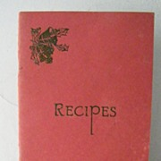 SALE Recipe Booklet Saint Barnabas Hospital Women's Auxiliary