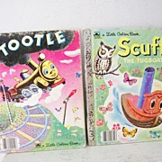 "SALE 2 Little Golden Books ""Scuffy"" & ""Tootle"""