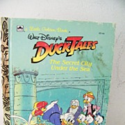 SALE Walt Disney's DuckTales A Little Golden Book