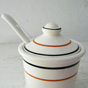 Restaurant Ware Mustard Pot Circa the Thirties