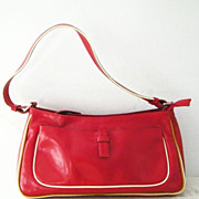 SALE Francesco Biasia Italian Red Leather Handbag Italy