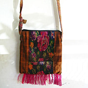 SALE Carpet Tapestry & Cotton Tote Purse