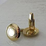 SALE Mother Of Pearl goldtone cufflinks