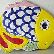 La Musa Handpainted Ceramic Fish made in Italy
