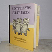 SALE Best Friends For Frances by Russell Hoban 1st edition