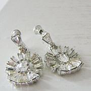 SALE Vintage Rhinestone Dangle Earrings