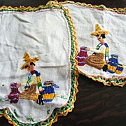 Mexican Motif Antimacassar Embroidery & Crochet