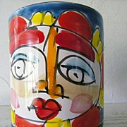 SALE Italian Hand Painted Mug Circa 1960's
