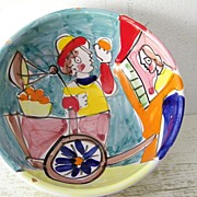SALE Hand Painted Italian Bowl