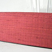 SALE Red Raw Silk Checkbook Wallet Mint!