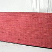 SALE Red Raw Silk Checkbook Wallet Mint!