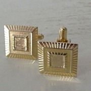 Stylized Square Goldtone Cufflinks
