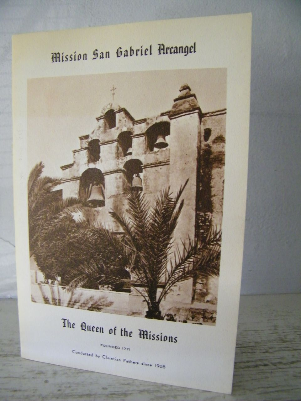 San Gabriel Mission booklet   California