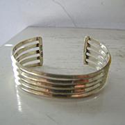 SALE Mexican Sterling Silver Cuff Bracelet  28.2 Gram