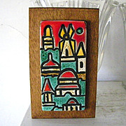 SALE Art Ceramic Tile Jerusalem Wall Art Israel