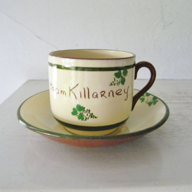 Carrig Ware Cup & Saucer from Killarney, Ireland