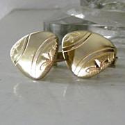Gold Tone Unsual Shape Cufflinks