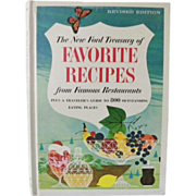 SALE The New Ford Treasury of Favorite Recipes Guide to 800 Eating Places 1966