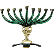 SALE New vintage Hanukkah Menorah 9 branch