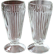 SALE 6  Ribbed Parfait Glasses 13 Glasses are Available