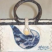 SALE Organic Abaca Handbag Mint!