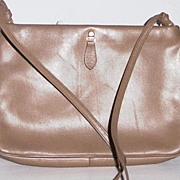 "SALE ""Etra"" Tan Leather Shoulder Bag"