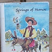 SALE Springs of Humor diminutive book scarce