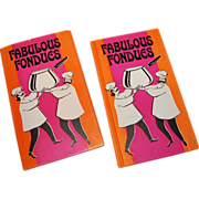 SALE 1970 'Fabulous Fondues' First Edition Hardcover Book w/ Dust Jacket