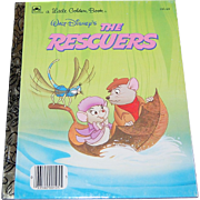 SALE 1977 Walt Disney ~ The Rescuers ~ Little Golden Book ~ Mint