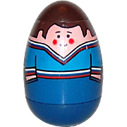 SALE 1970s Weebles ~ Man w/ Blue Shirt Peelable Weeble