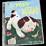 SALE 1970 The Poky Little Puppy ~ A Little Golden Book