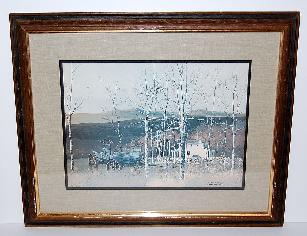"1970s Hamilton ~ ""The Changing Season"" Framed Print"