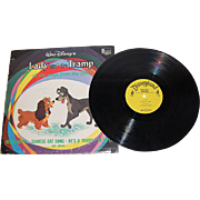 SALE 1962 Disney ~ Lady and the Tramp Record