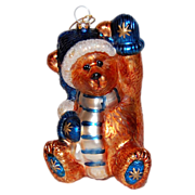 Boyds Bear ~ Large Glass Christmas Ornament