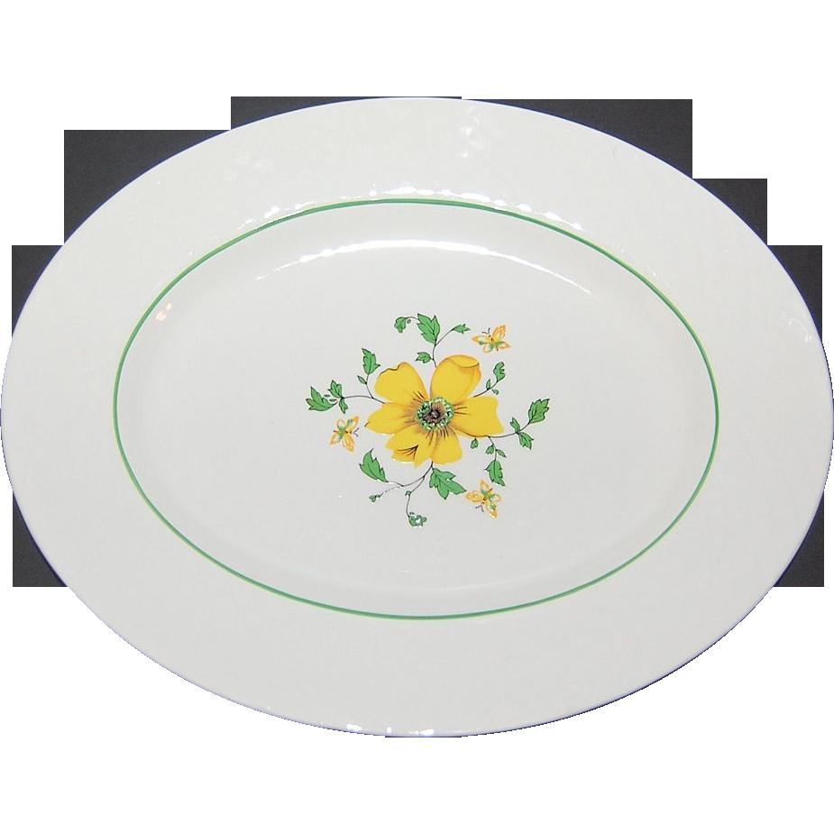 Wedgwood China Jacqueline Pattern Oval Platter