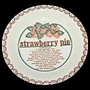 SALE Mount Clemens Pottery ~ Ceramic Strawberry Pie Baking Dish